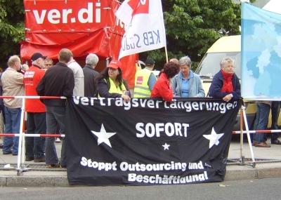 Kundgebung anlaesslich des SPD-Parteitags am 21.06.08